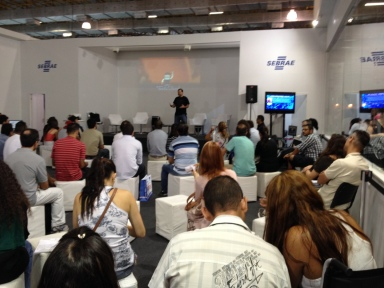 Bruno Souza talks about his experiences during Sebrae's StartupWorld event